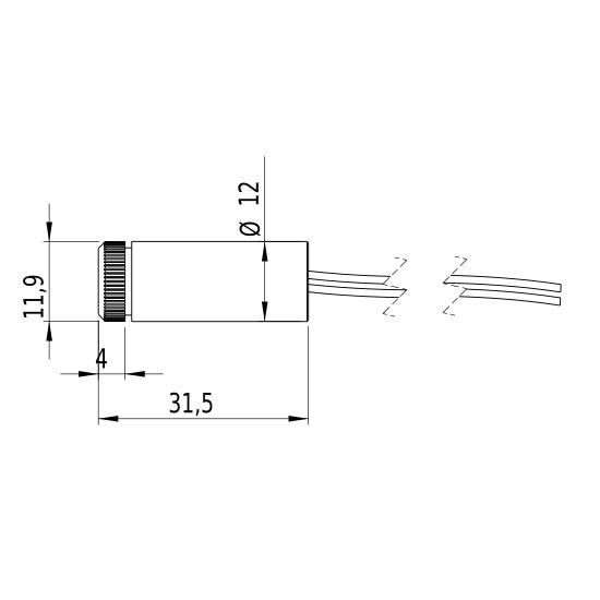 Laserfuchs LFD635-1-3(12x30.5)-C400