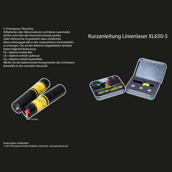 Picotronic XL650-5-POS-TRAY