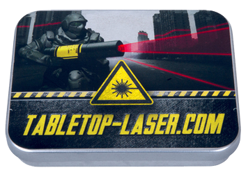 tabletop-laser stabile metalldose